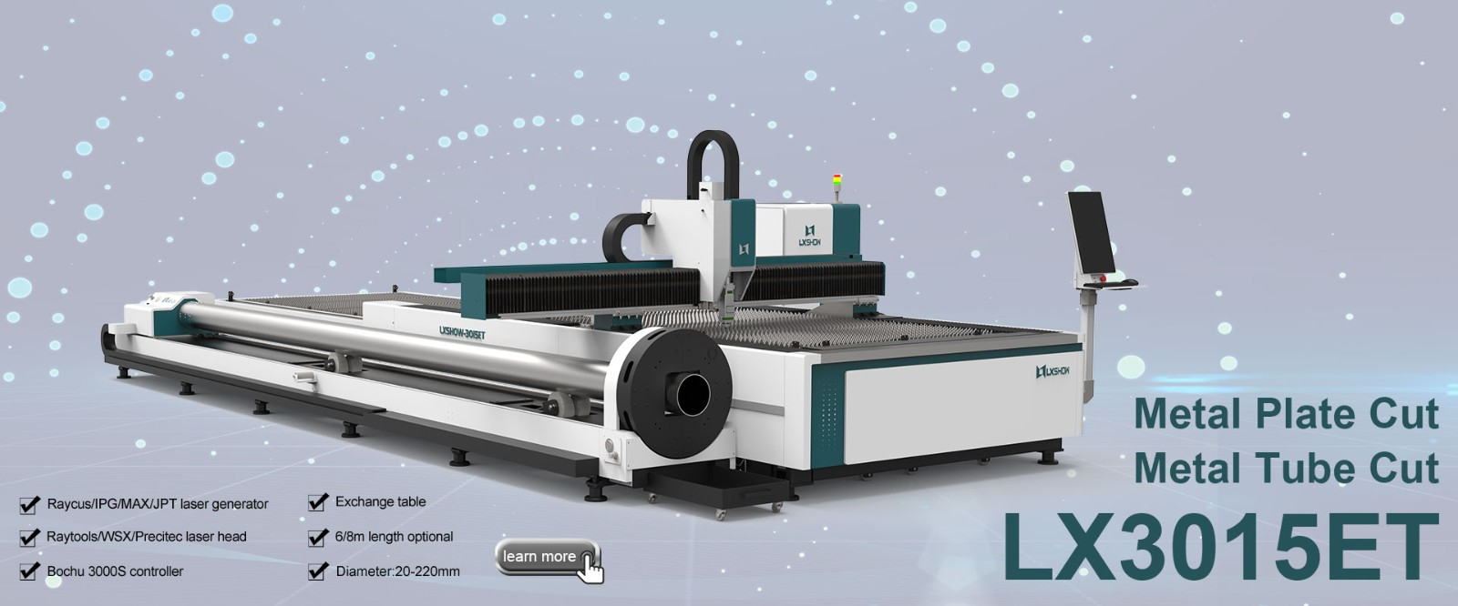 Sheet and Tube Laser Cutting Machine LX3015ET