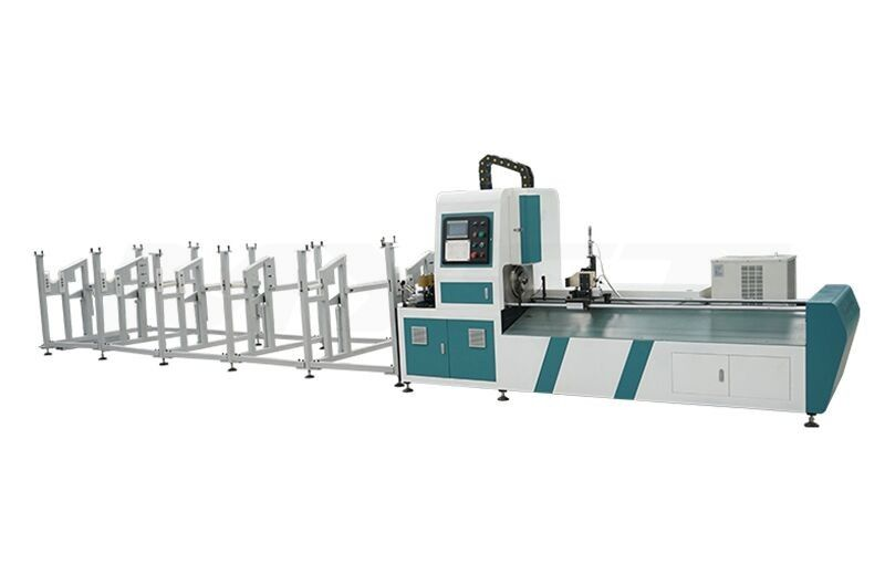 TJ Cheapest Simple Tube Pipe metal steel Fiber laser cutting machine 1kw 1.5kw 2kw 3kw 1000w 1500w 2000w 3000w Laser cutter