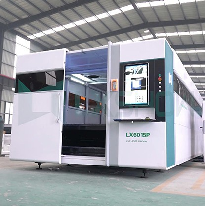 Laser cnc metal cutting machine LX6015P cuts 0.8mm stainless steel plate