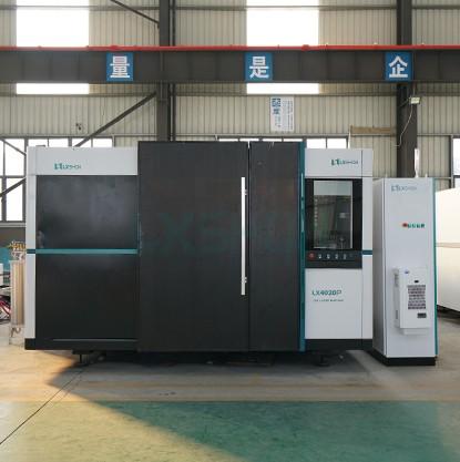 Fiber laser cutting machine 12kw LX4020P cut sstainless steel plate 36mm carbon steel plate 40mm