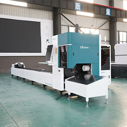 Laser pipe cutting machine LX62TE swinging cutting head cutting CS SS and galvanized tube