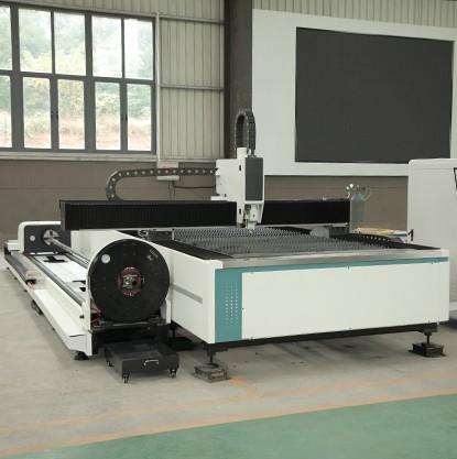 Alibaba certified sheet and tube fiber laser cutting machine cut SS plate 1mm
