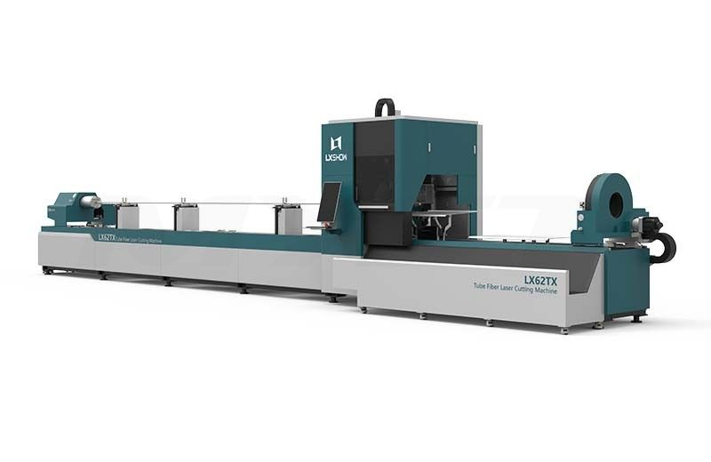 LX62TX stainless steel carbon steel aluminum cnc 3d round and square metal pipe fiber laser tube cutting machine for sale