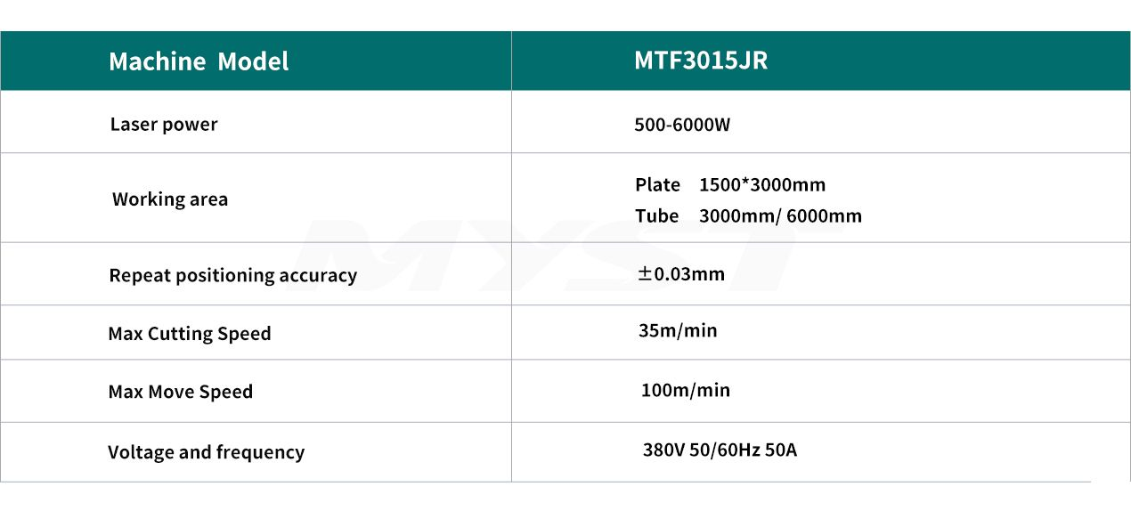 Fiber Laser Cutting Machine With Rotary And Exchange Table MTF3015JR