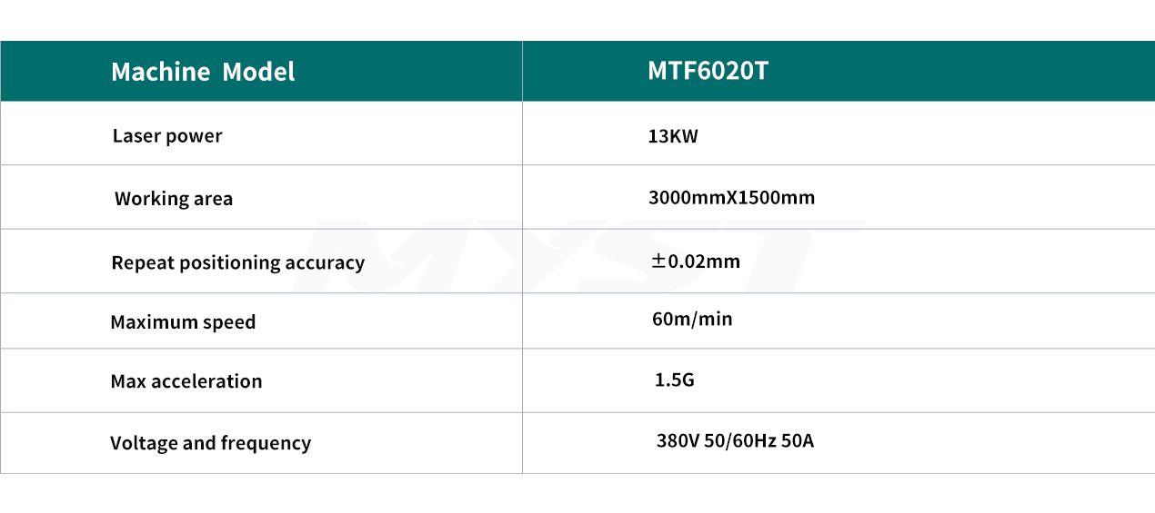Metal Tube Laser Cutting Machine MTF6020T1