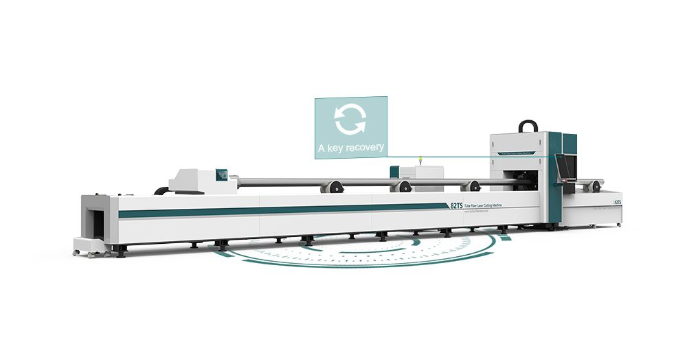 MT82TS Round Square tube ss cs aluminum metal pipe tube fiber laser cutter 1KW 1.5KW 2KW 3KW 4KW 6KW 8KW 12KW