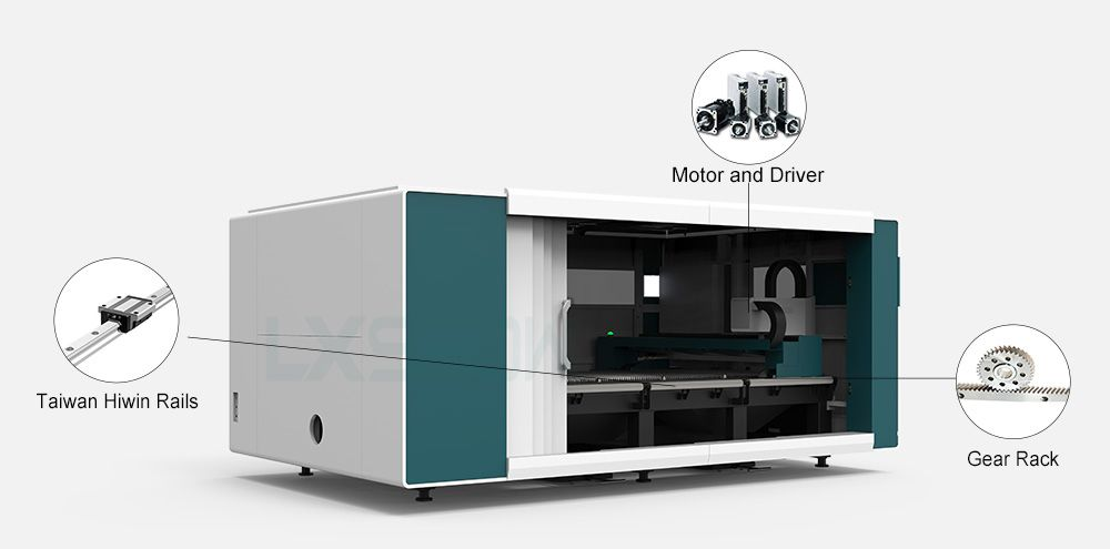 LX3015C-0 China cnc best metal plate enclosed fiber laser cutting sheet machine stainless steel carbon steel iron aluminum price