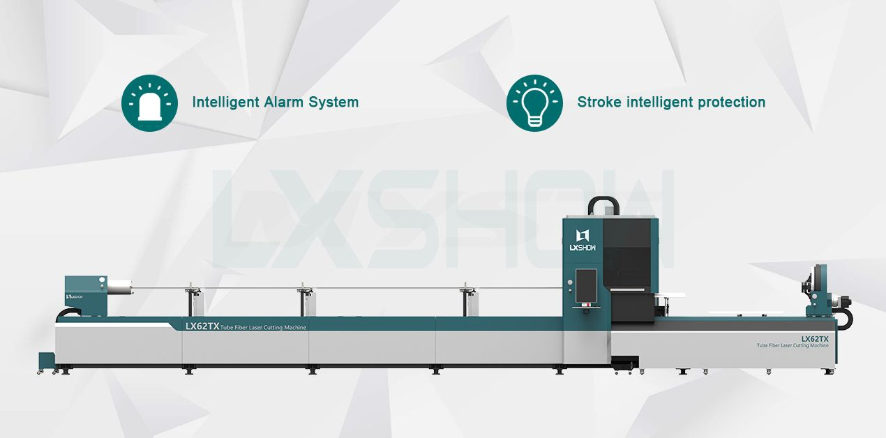 LX6TX stainless steel carbon steel aluminum cnc 3d round and square metal pipe fiber laser tube cutting machine for sale